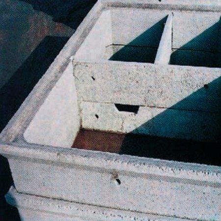 Vasca condensagrassi rettangolare modulare cm 300x200x100h