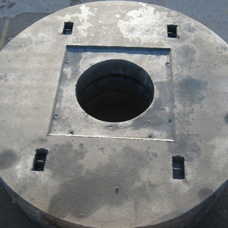 Coperchi circolari rinforzati con ispezione