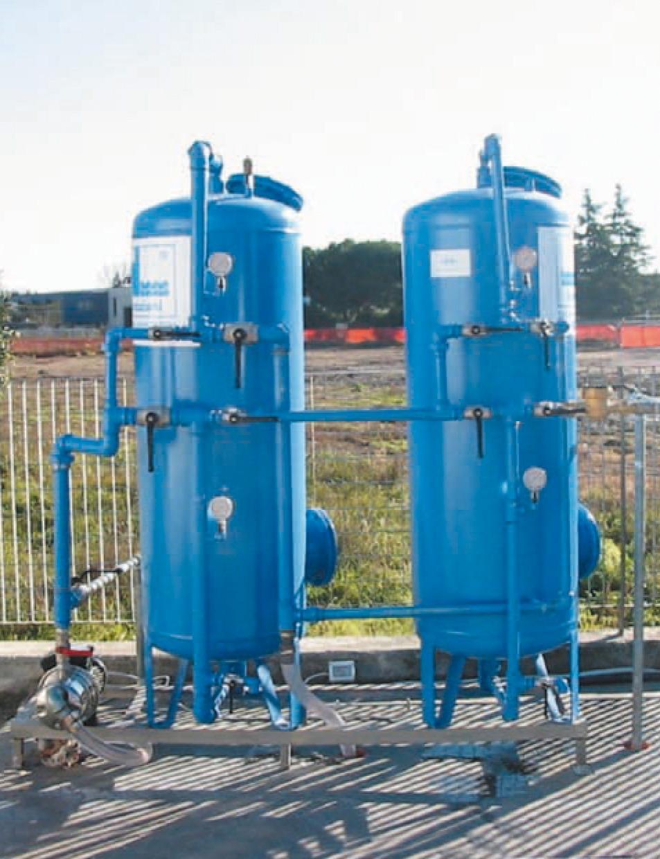 Quarzite and carbon filtration plants