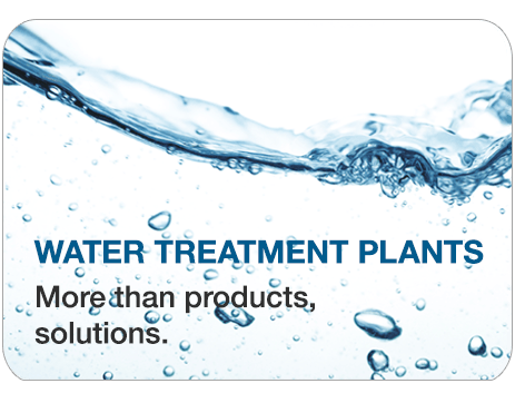 Water treatments plants, More than products, solutions