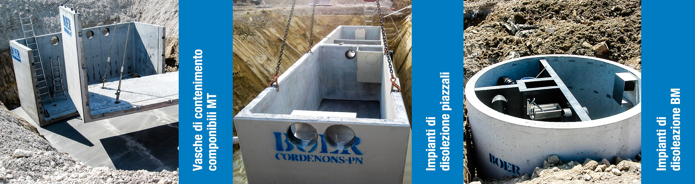 Boer Group, Manufatti in cemento e impianti di depurazione